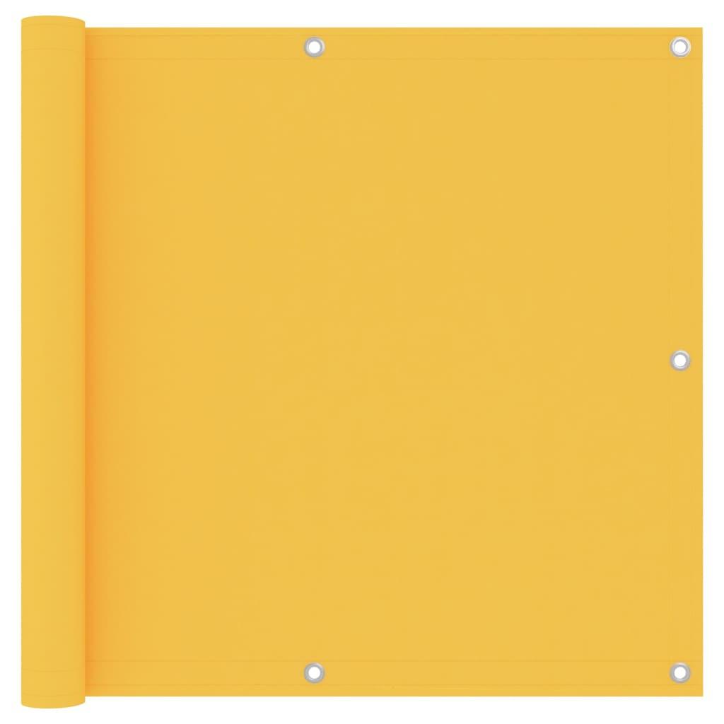 vidaXL Paravan de balcon, galben, 90 x 600 cm, țesătură oxford vidaxl.ro