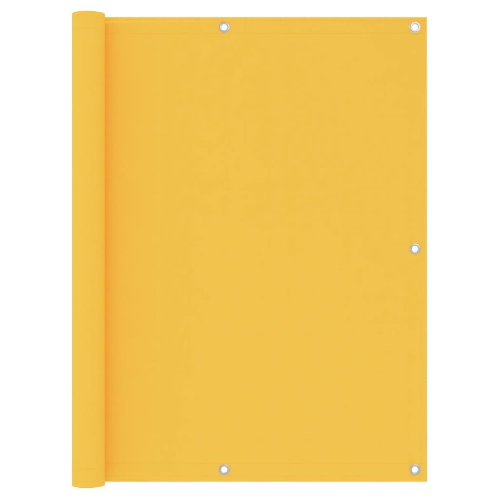 Balkónová zástěna žlutá 120 x 300 cm oxfordská látka