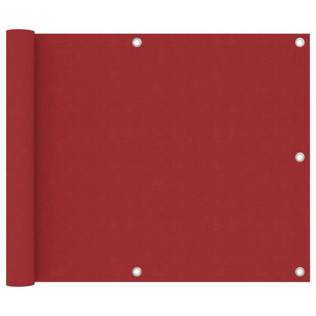 Balkónová zástěna červená 75 x 500 cm oxfordská látka