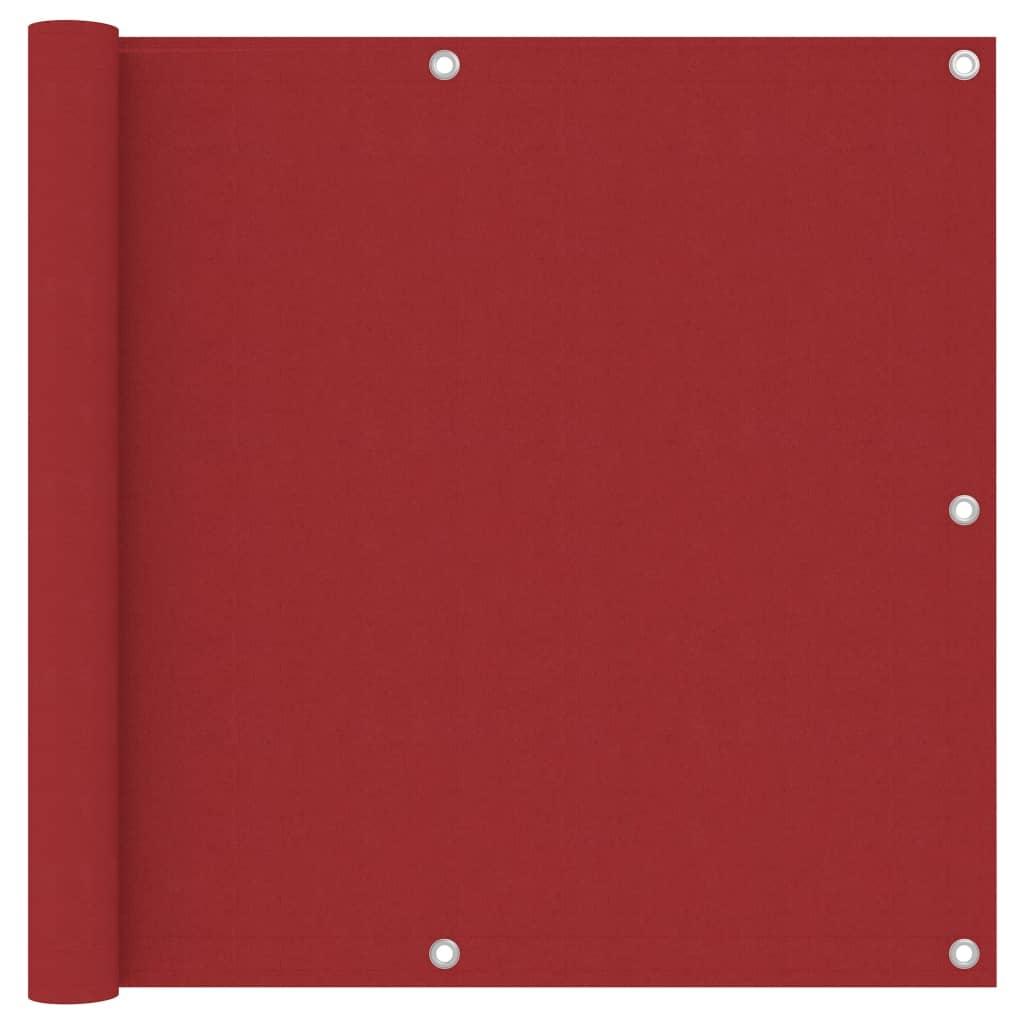 Balkónová zástěna červená 90 x 300 cm oxfordská látka