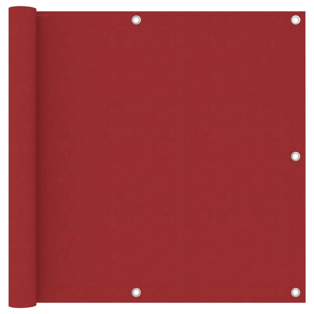 Balkónová zástěna červená 90 x 400 cm oxfordská látka