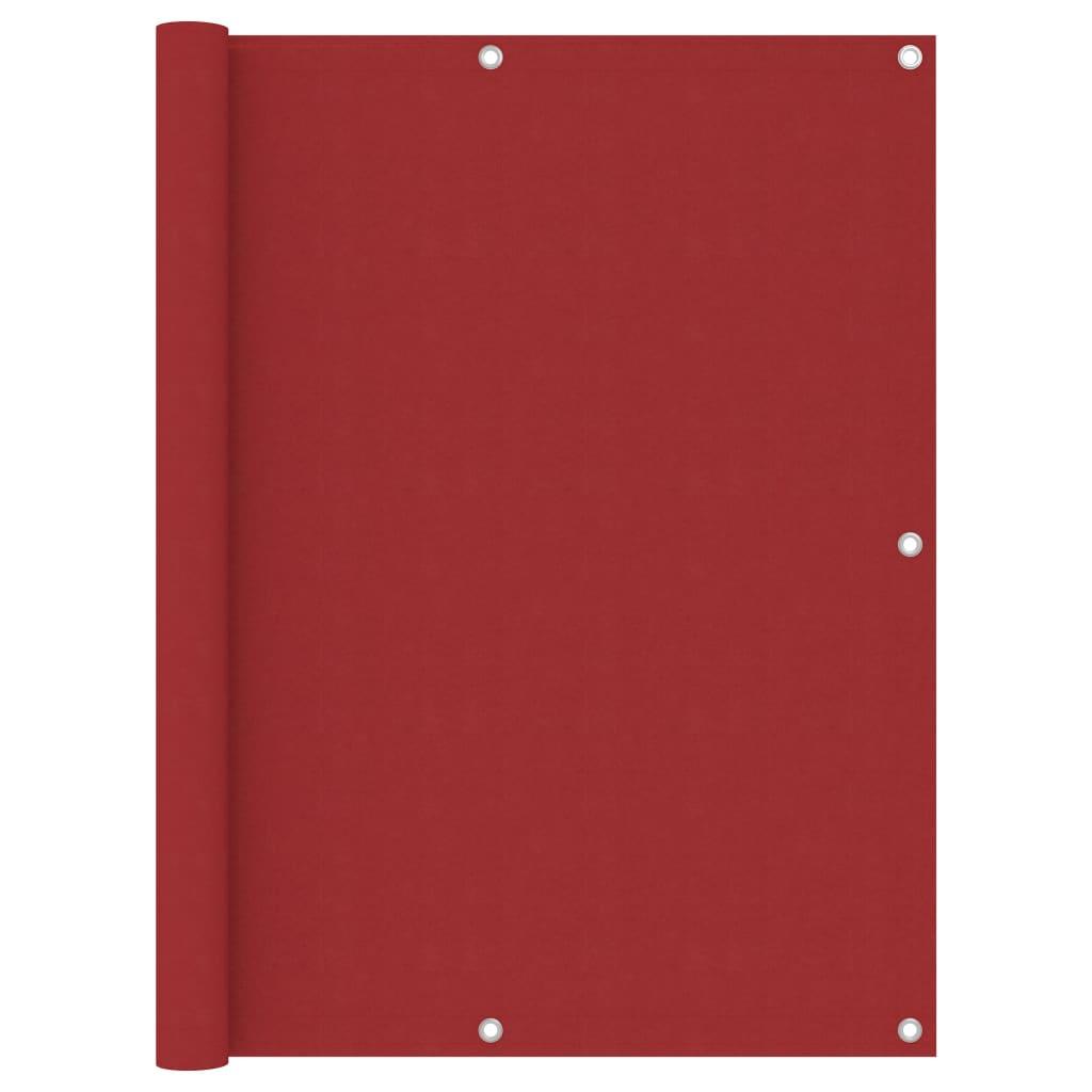 Balkónová zástěna červená 120 x 300 cm oxfordská látka