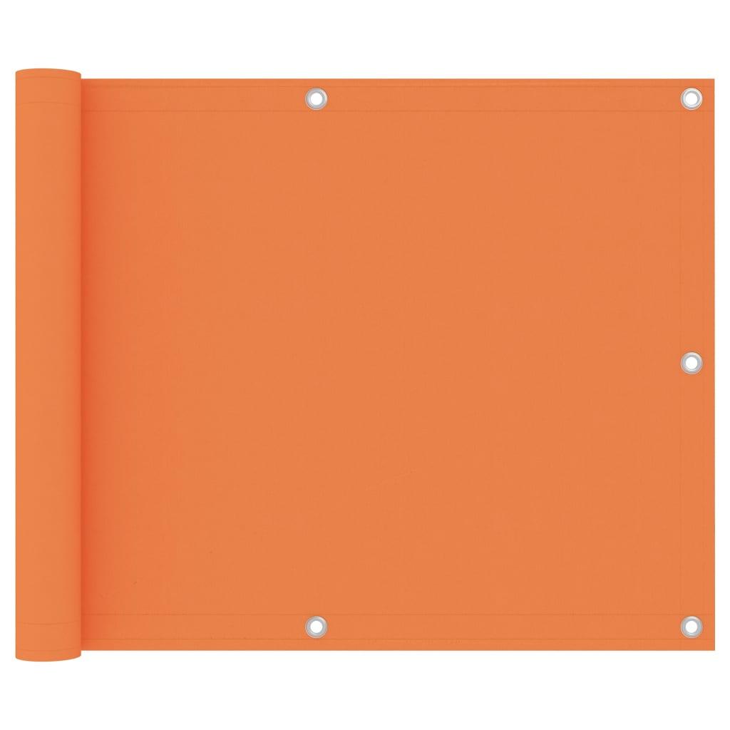 Balkónová zástěna oranžová 75 x 400 cm oxfordská látka