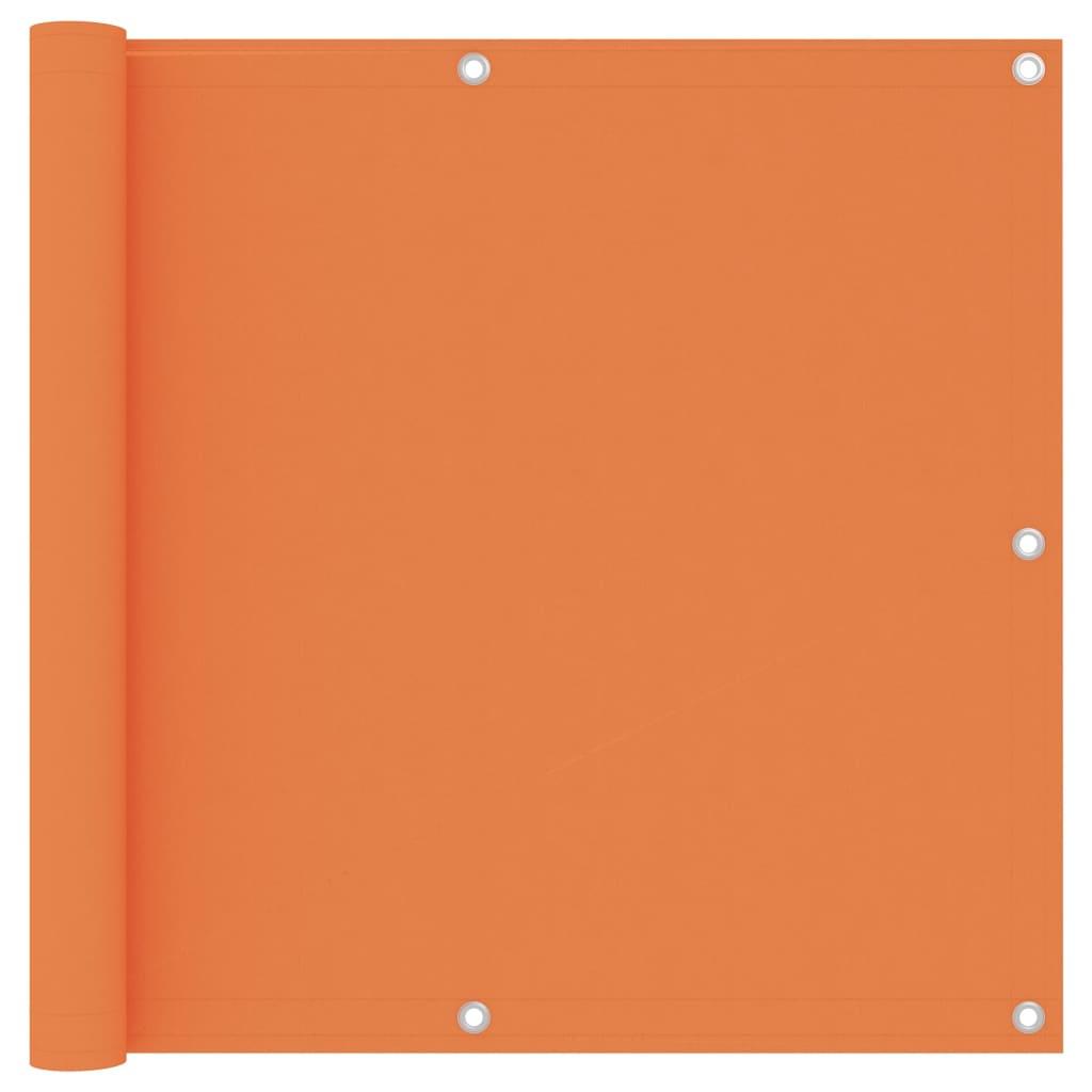 vidaXL Balkonscherm 90x400 cm oxford stof oranje