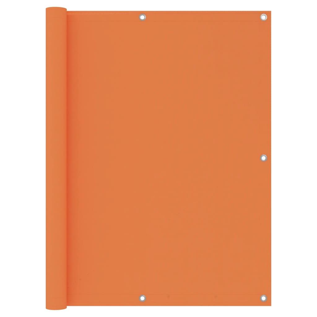 Balkónová zástěna oranžová 120 x 300 cm oxfordská látka