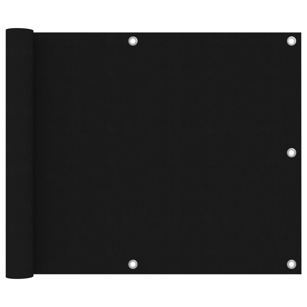 vidaXL Paravan de balcon, negru, 75 x 600 cm, țesătură oxford imagine vidaxl.ro