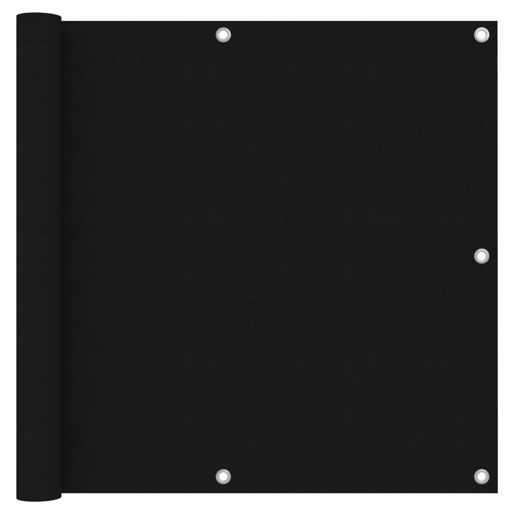 vidaXL Paravan de balcon, negru, 90 x 300 cm, țesătură oxford vidaxl.ro
