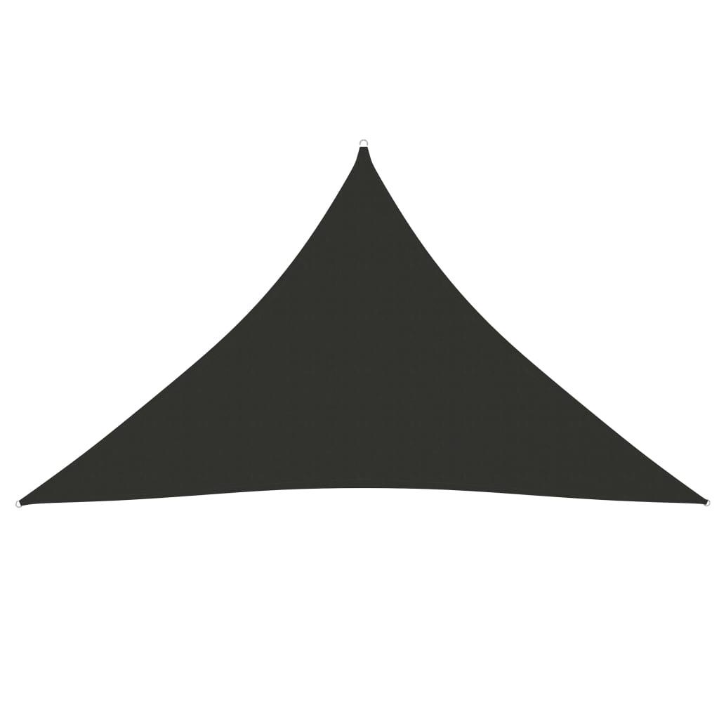 vidaXL Zonnescherm driehoekig 2,5x2,5x3,5 m oxford stof antracietkleurig
