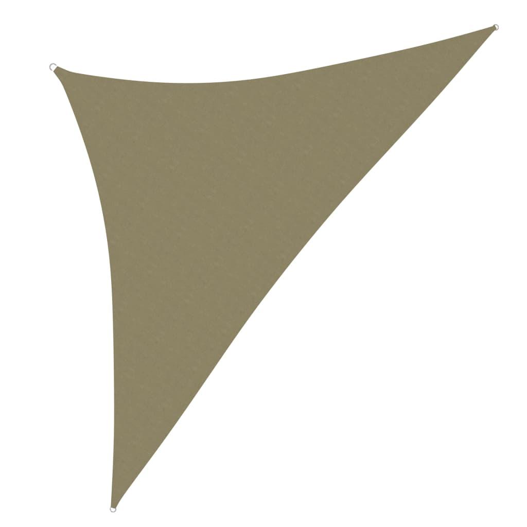 vidaXL Jedro protiv sunca od tkanine trokutasto 2,5 x 2,5 x 3,5 m bež