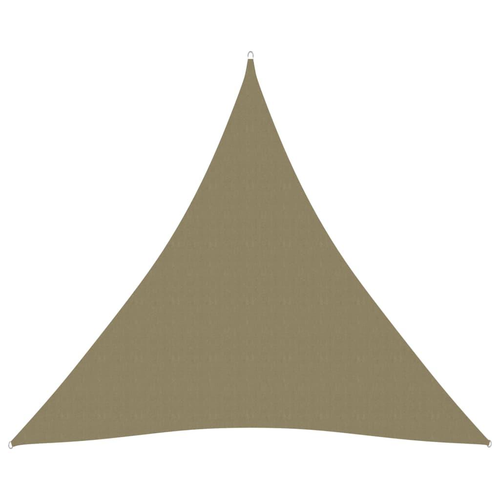 vidaXL Jedro za zaštitu od sunca od tkanine trokutasto 3 x 3 x 3 m bež