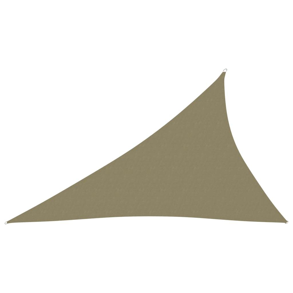 vidaXL Jedro za zaštitu od sunca od tkanine trokutasto 3 x 4 x 5 m bež
