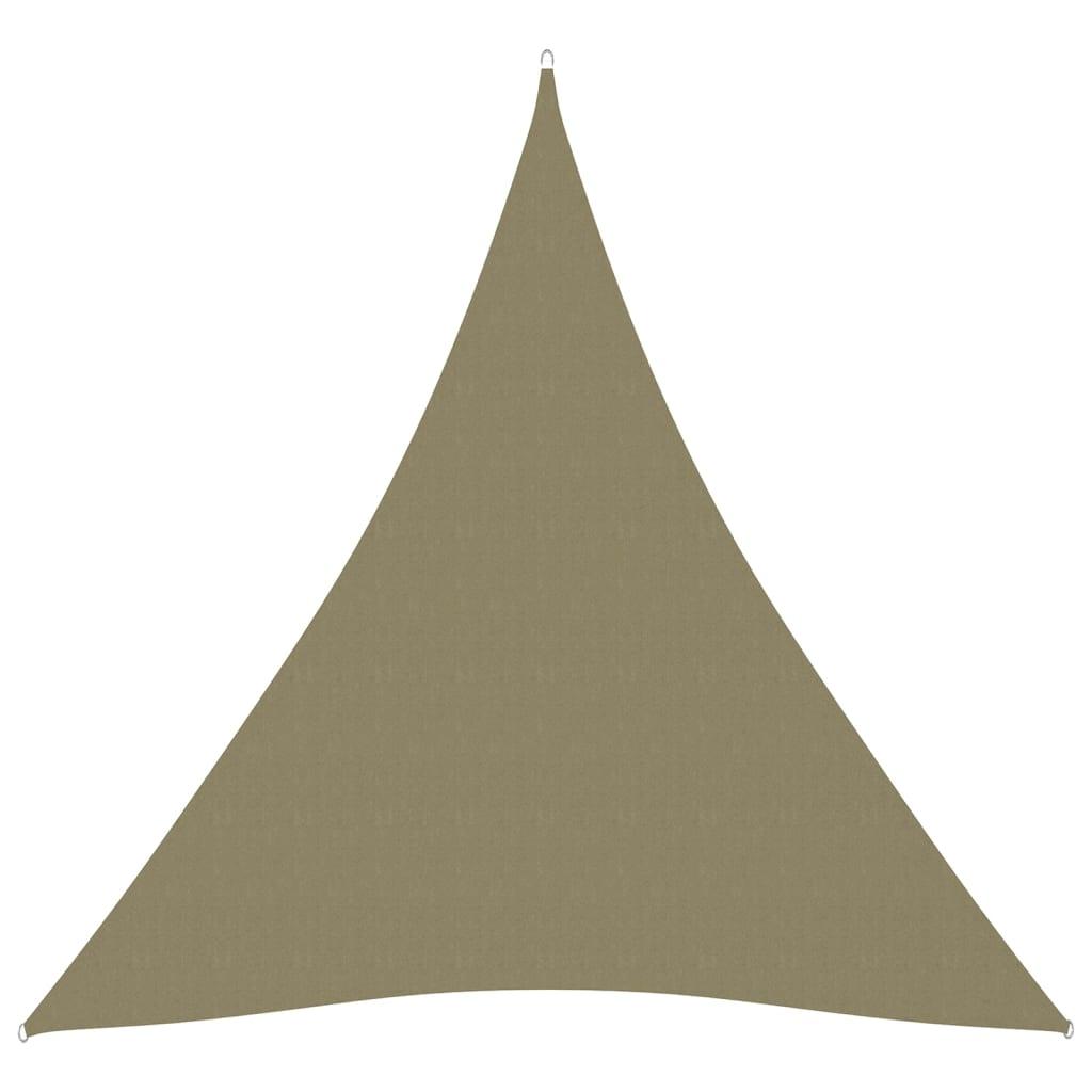 vidaXL Jedro za zaštitu od sunca od tkanine trokutasto 3 x 4 x 4 m bež