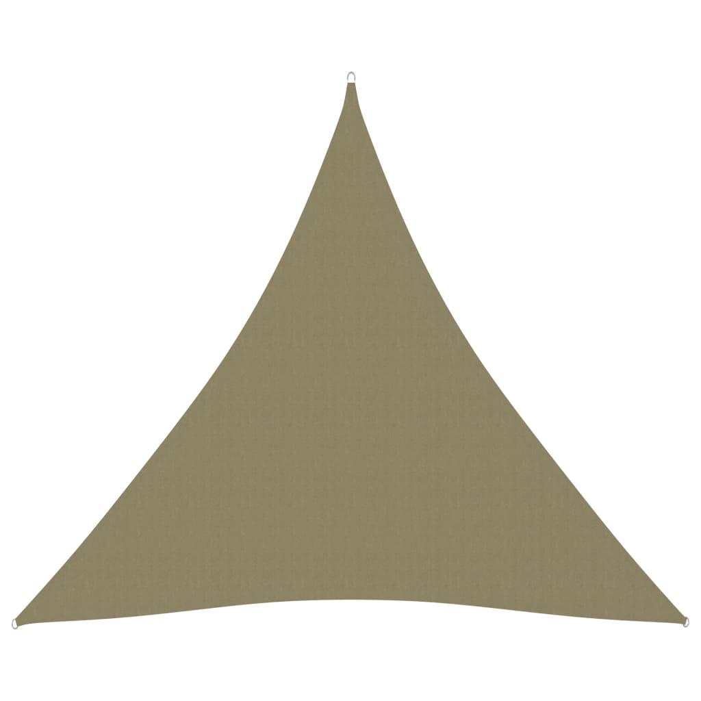 vidaXL Jedro protiv sunca od tkanine trokutasto 4,5 x 4,5 x 4,5 m bež