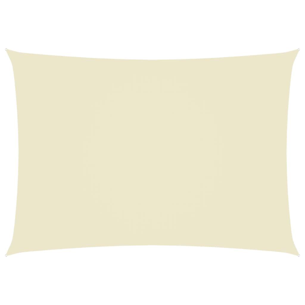 Zonnescherm rechthoekig 3x5 m oxford stof crèmekleurig