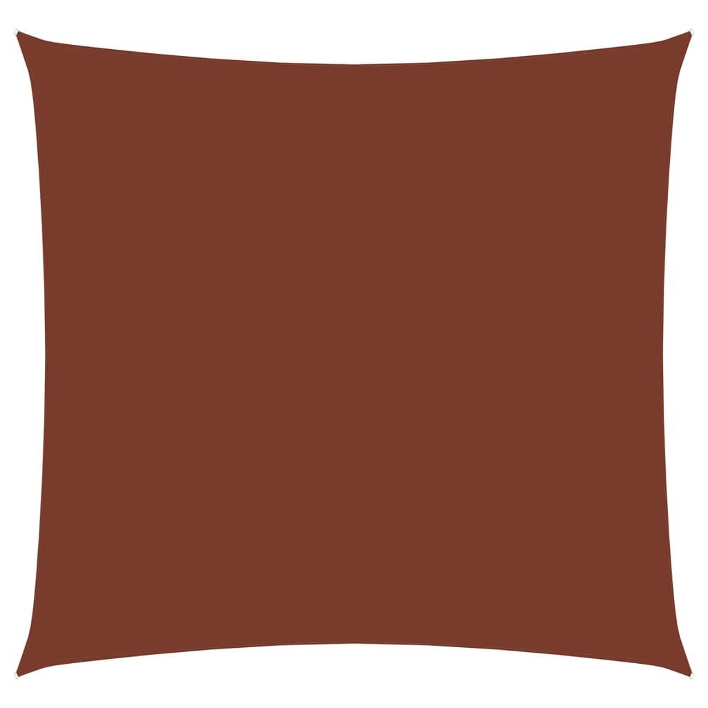 vidaXL Zonnescherm vierkant 3x3 m oxford stof terracottakleurig