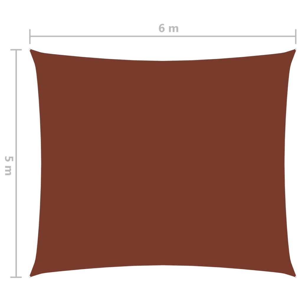 vidaXL Zonnescherm rechthoekig 5x6 m oxford stof terracottakleurig