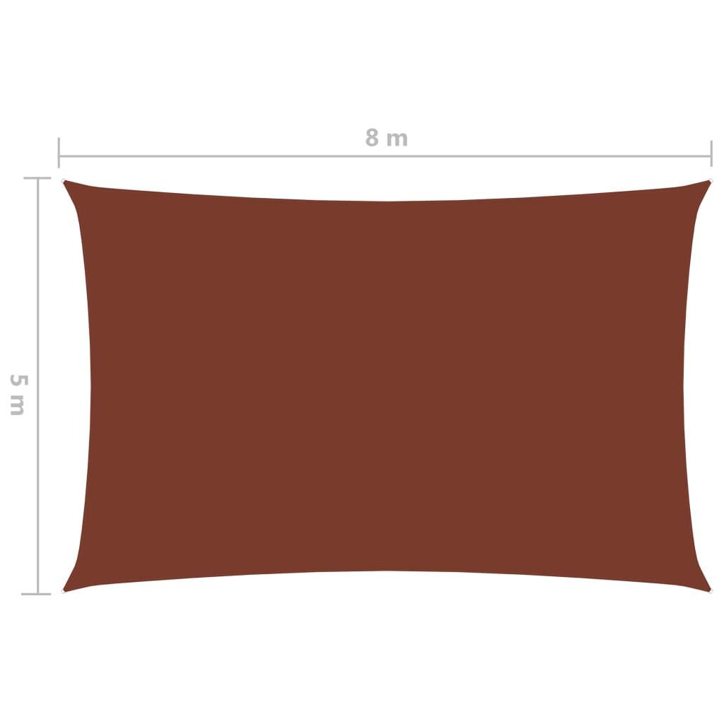 vidaXL Zonnescherm rechthoekig 5x8 m oxford stof terracottakleurig