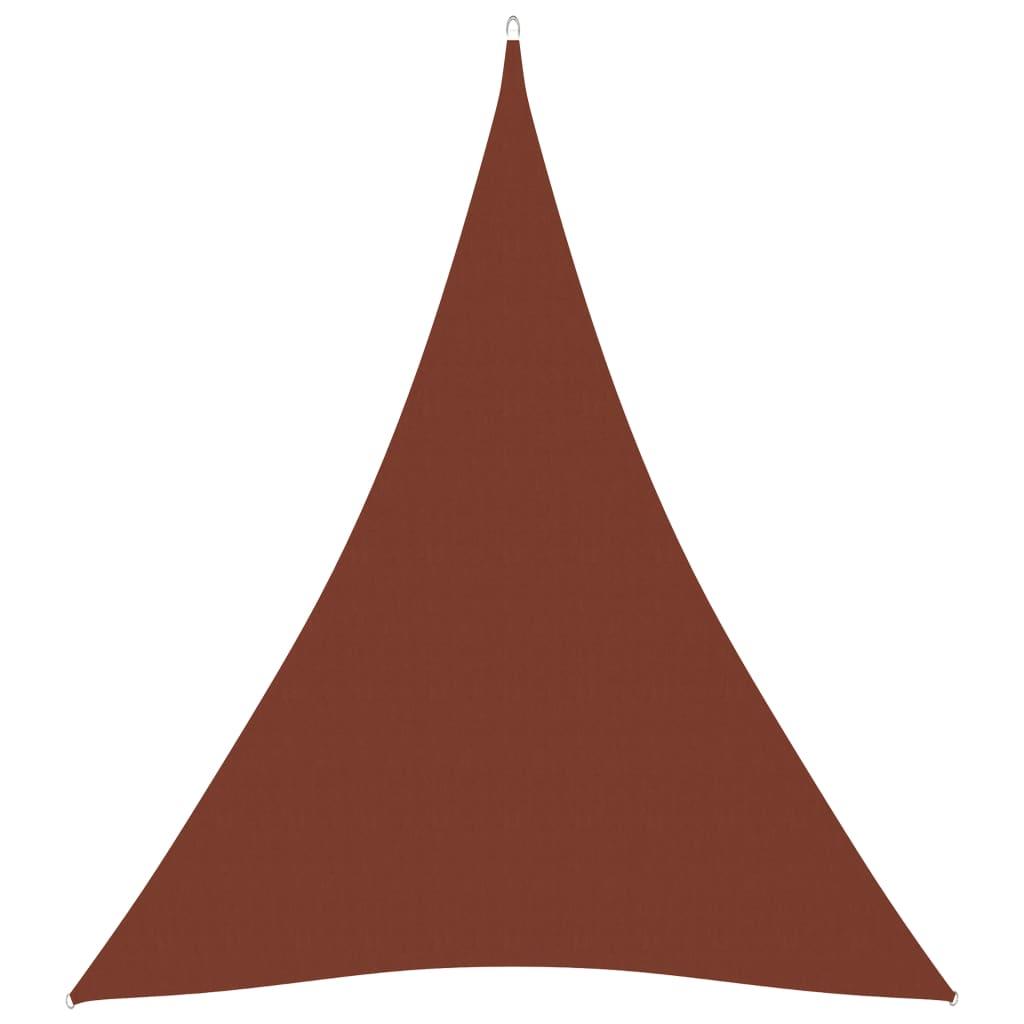 vidaXL Sonnensegel Oxford-Gewebe Dreieckig 3x4x4 m Terrakottarot