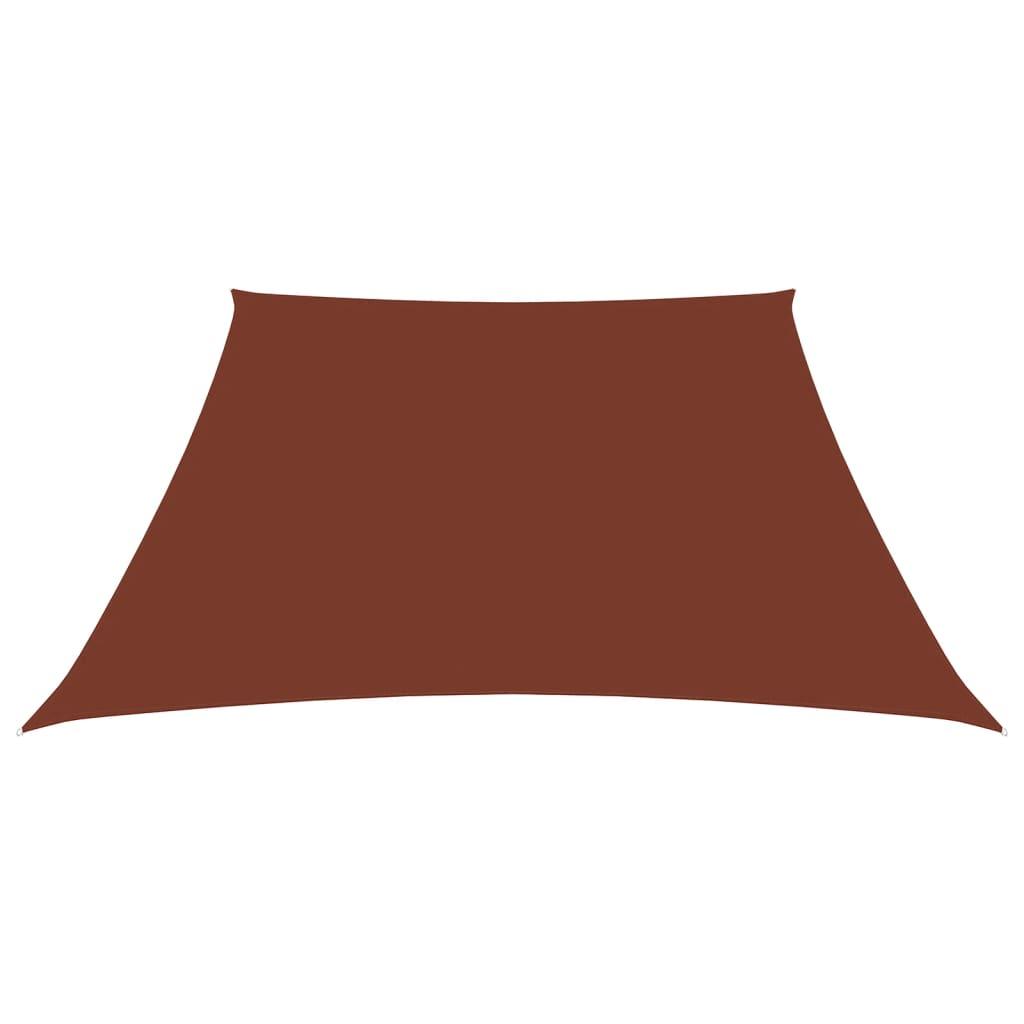 Zonnescherm trapezium 4/5x3 m oxford stof terracottakleurig
