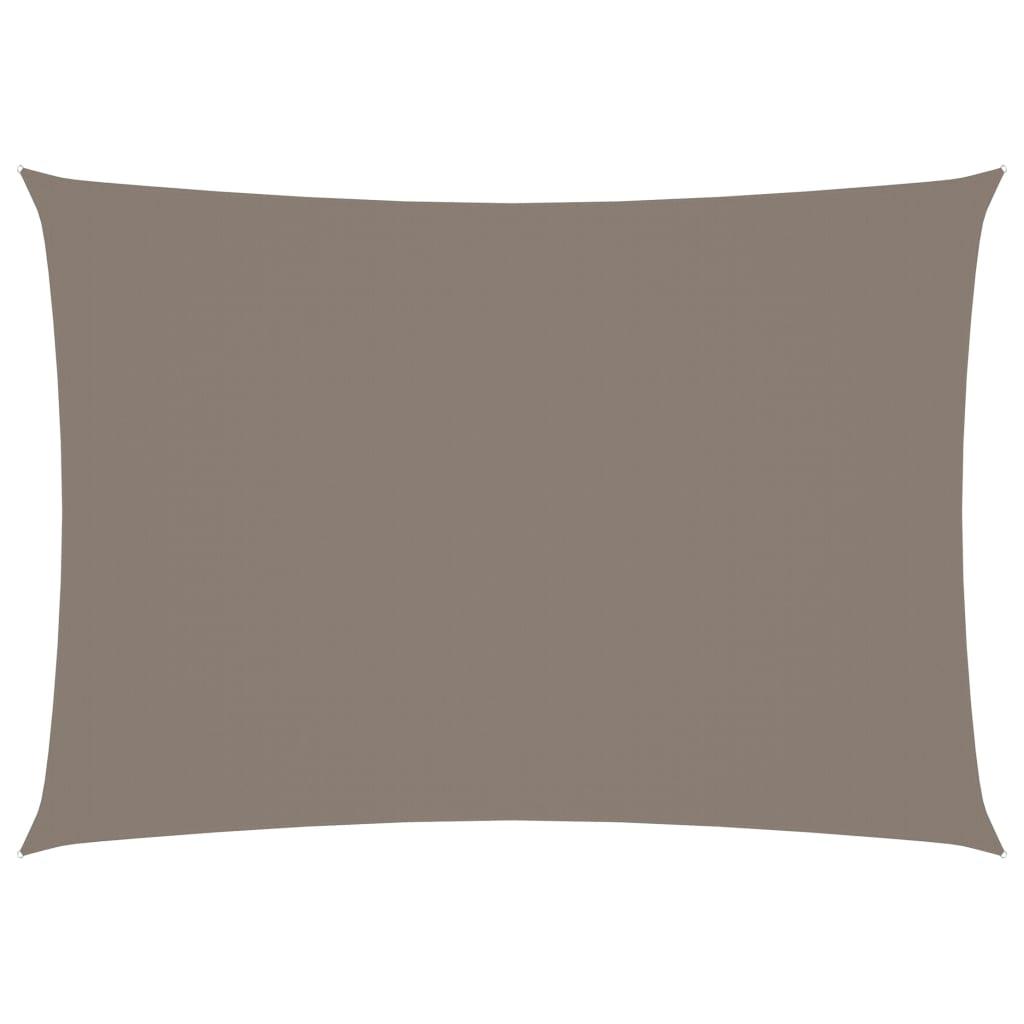 vidaXL Jedro protiv sunca od tkanine pravokutno 3 x 4 m smeđe-sivo