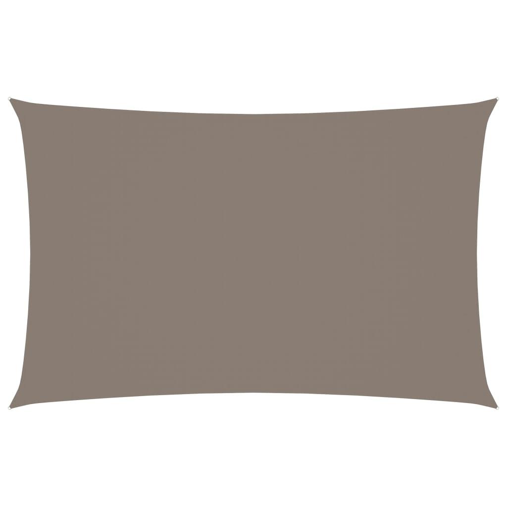 vidaXL Jedro protiv sunca od tkanine pravokutno 4 x 7 m smeđe-sivo