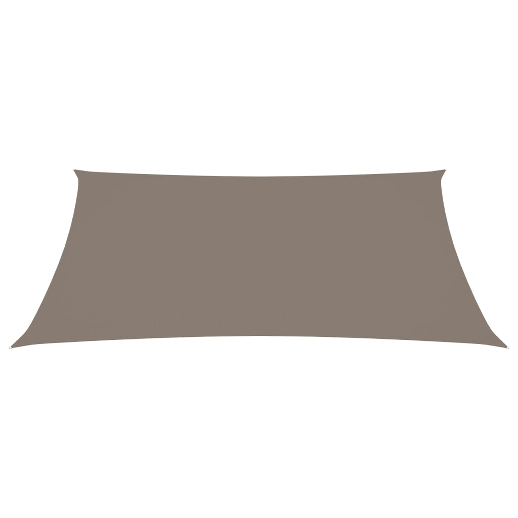 vidaXL Zonnescherm rechthoekig 6x7 m oxford stof taupe