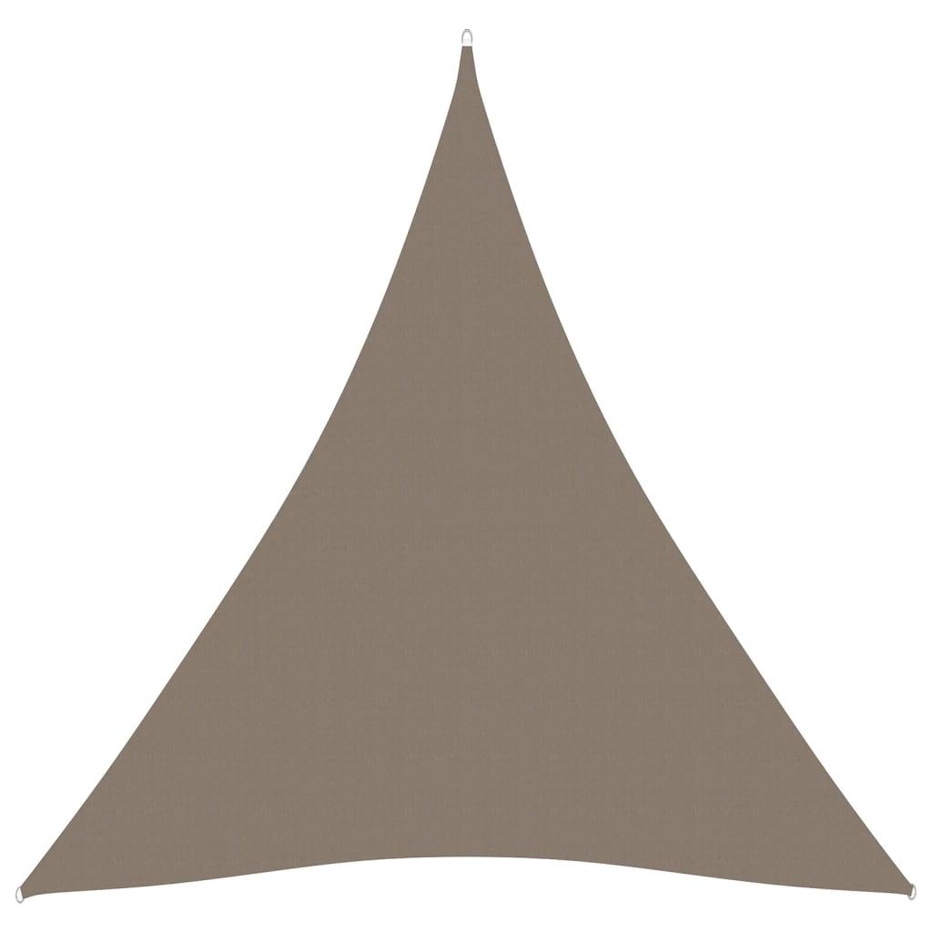 vidaXL Sonnensegel Oxford-Gewebe Dreieckig 3x3x3 m Taupe