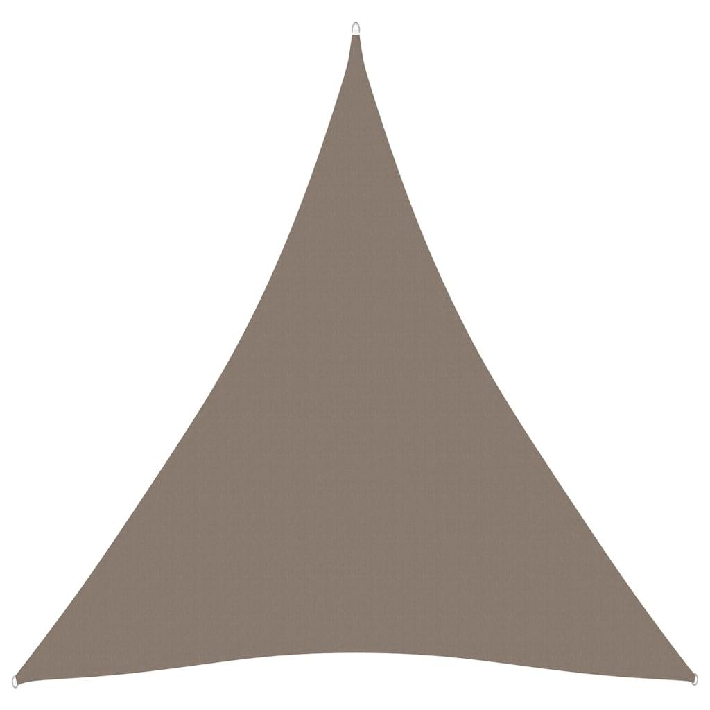 Zonnescherm driehoekig 5x5x5 m oxford stof taupe