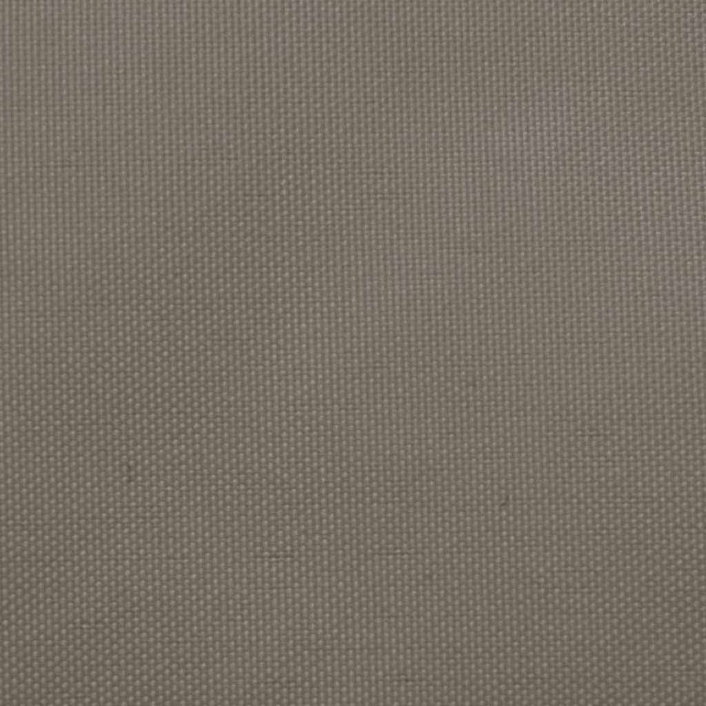 Zonnescherm trapezium 3/4x2 m oxford stof taupe