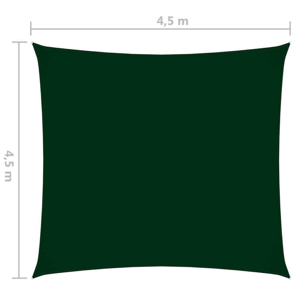 Zonnescherm vierkant 4,5x4,5 m oxford stof donkergroen