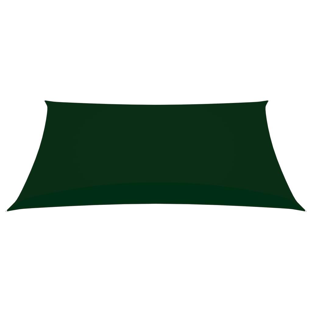 vidaXL Zonnescherm rechthoekig 4x6 m oxford stof donkergroen