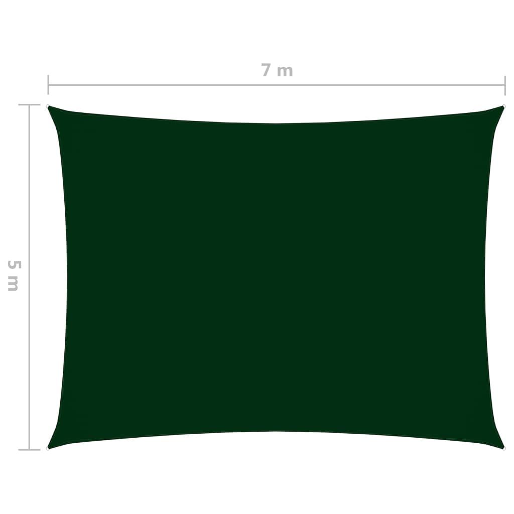vidaXL Zonnescherm rechthoekig 5x7 m oxford stof donkergroen