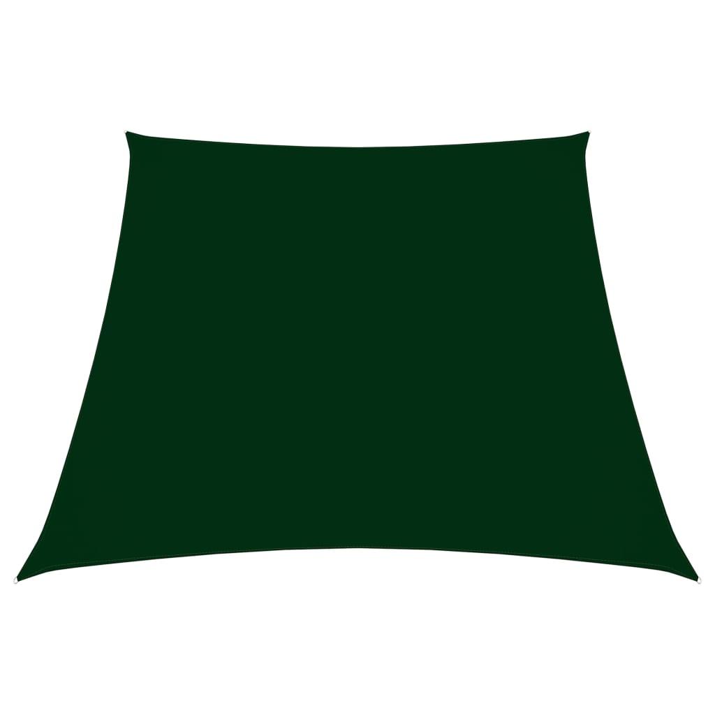 Zonnescherm trapezium 4/5x3 m oxford stof donkergroen