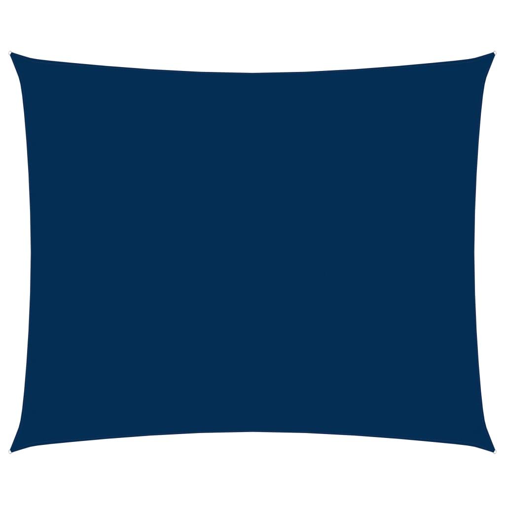 vidaXL Zonnescherm rechthoekig 6x7 m oxford stof blauw