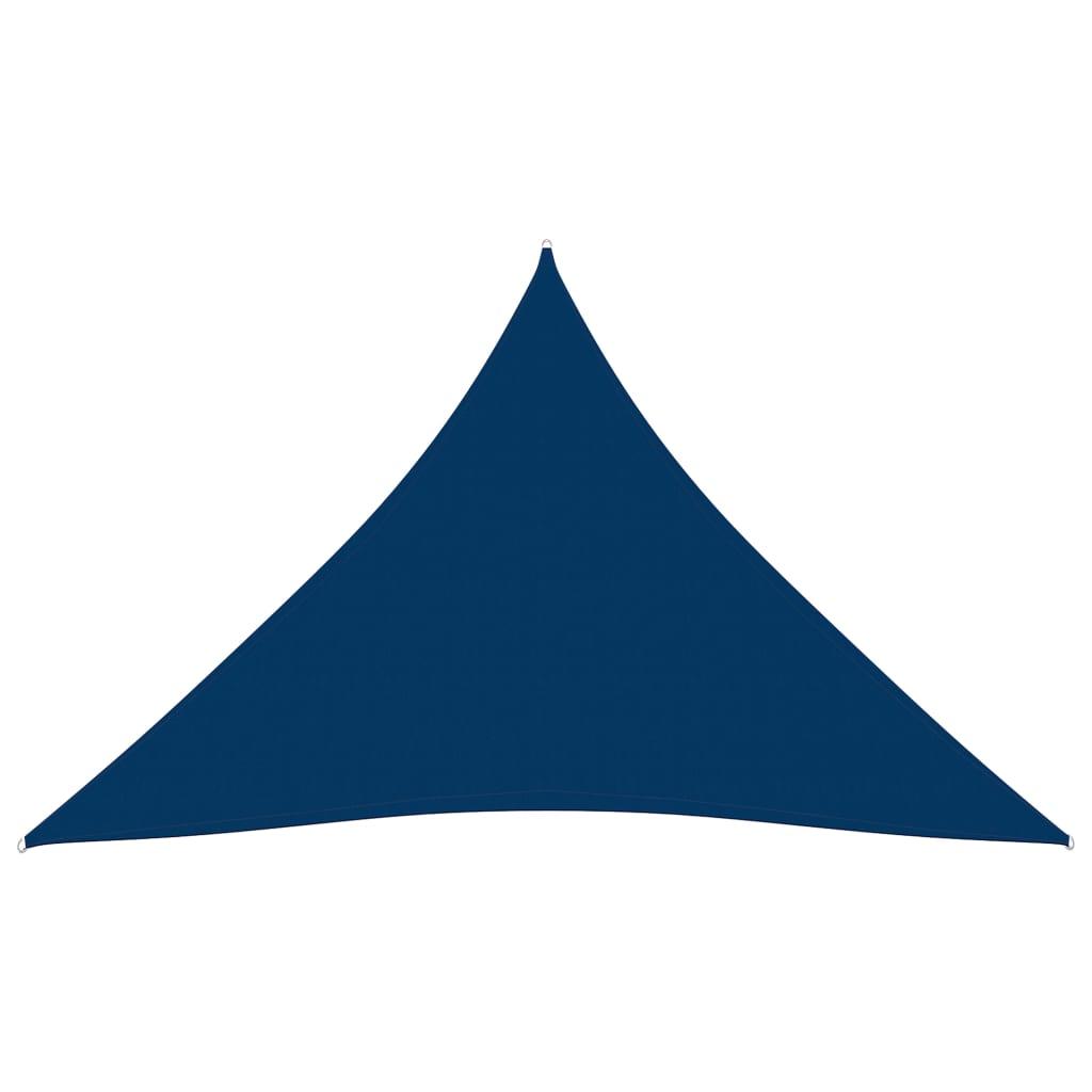vidaXL Zonnescherm driehoekig 3x4x4 m oxford stof blauw