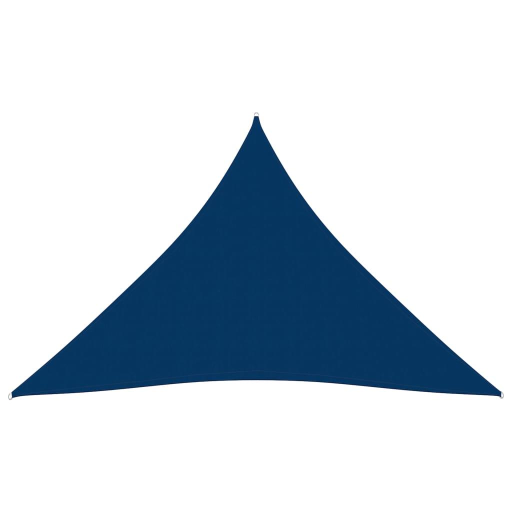 Zonnescherm driehoekig 5x7x7 m oxford stof blauw