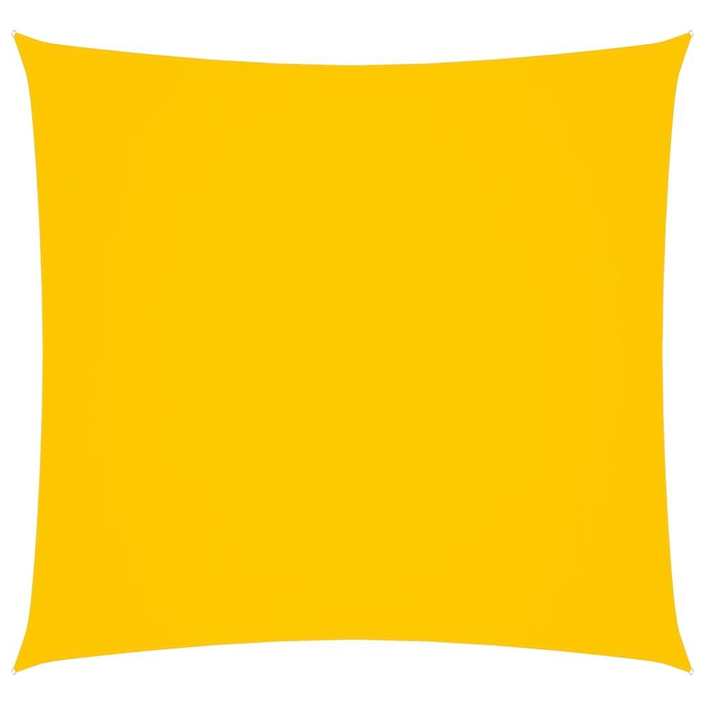 Zonnescherm vierkant 3,6x3,6 m oxford stof geel