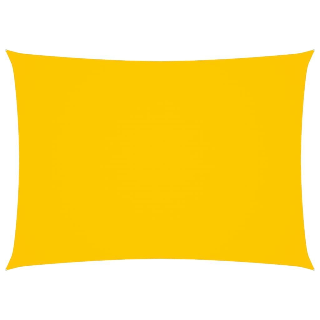 vidaXL Zonnescherm rechthoekig 2x4 m oxford stof geel