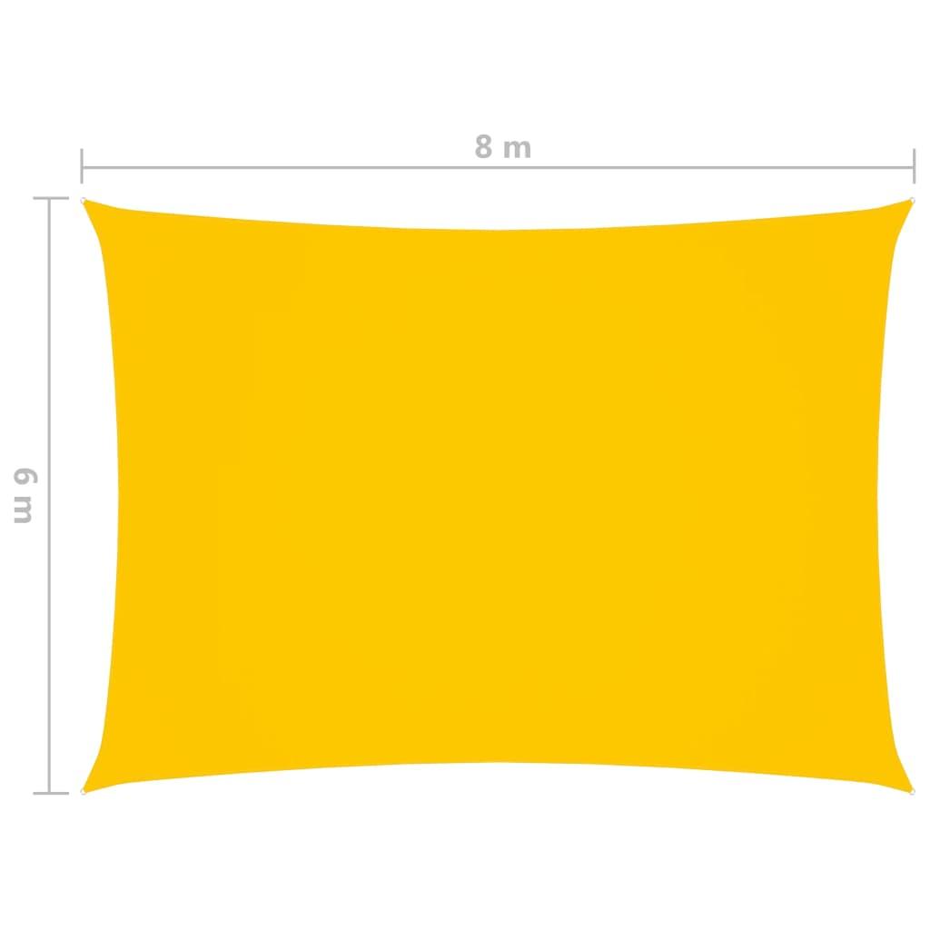 vidaXL Zonnescherm rechthoekig 6x8 m oxford stof geel