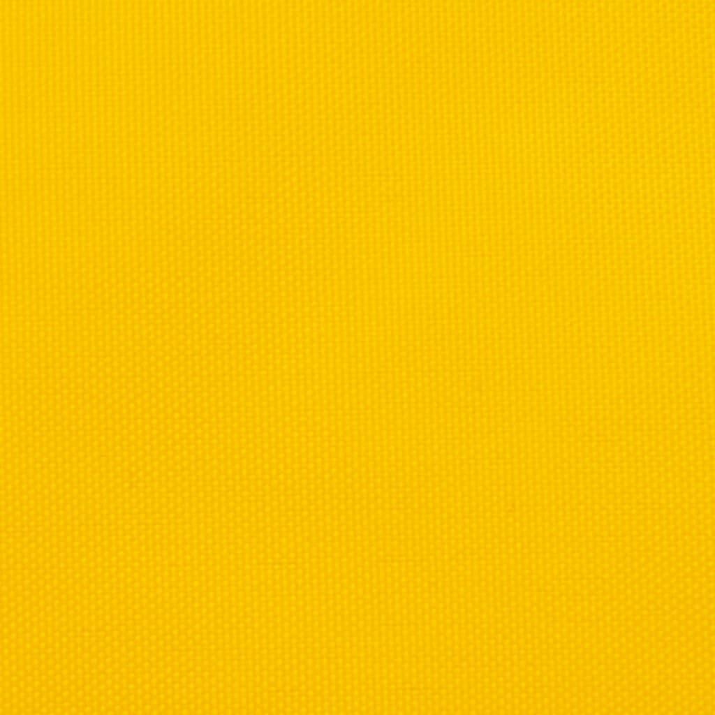Zonnescherm driehoekig 5x6x6 m oxford stof geel