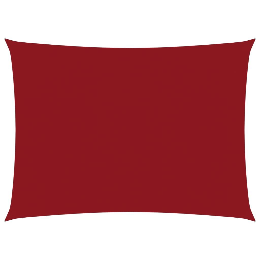 Zonnescherm rechthoekig 3,5x5 m oxford stof rood