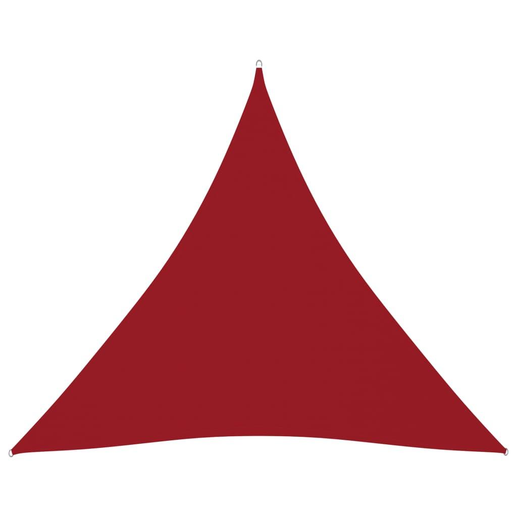vidaXL Zonnescherm driehoekig 4,5x4,5x4,5 m oxford stof rood