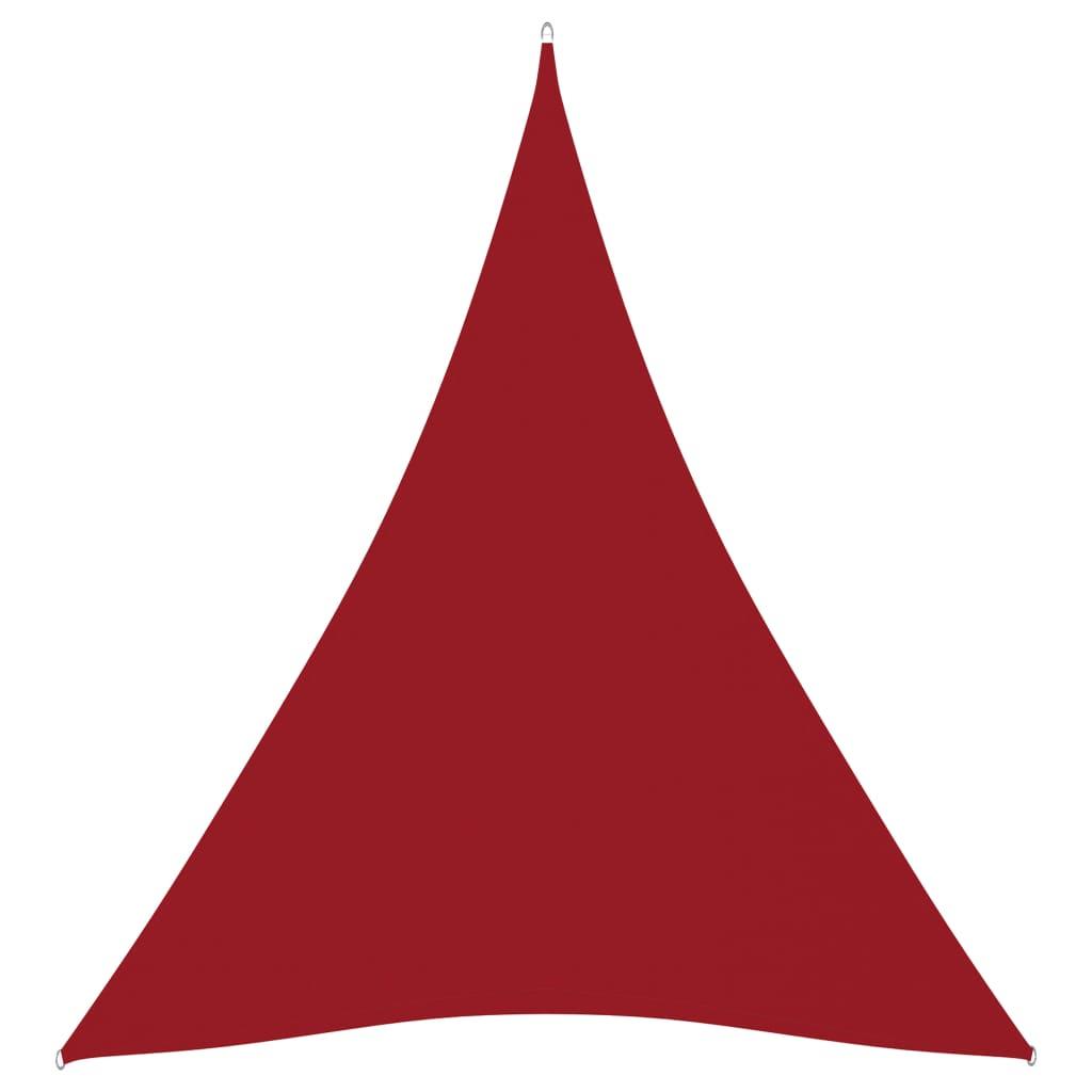 Zonnescherm driehoekig 5x7x7 m oxford stof rood