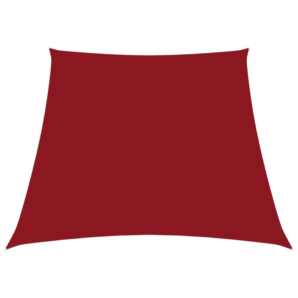 Zonnescherm trapezium 3/4x3 m oxford stof rood