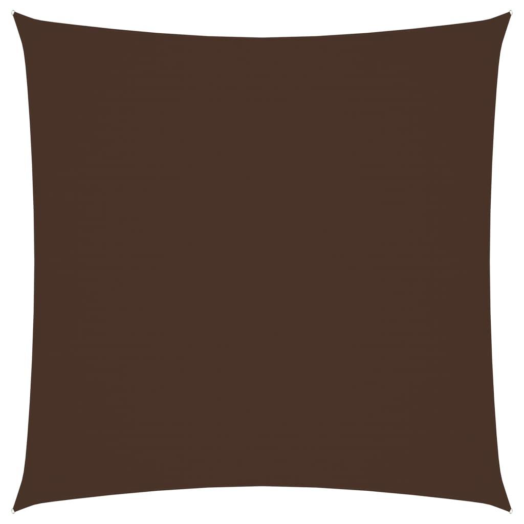 vidaXL Zonnescherm vierkant 5x5 m oxford stof bruin