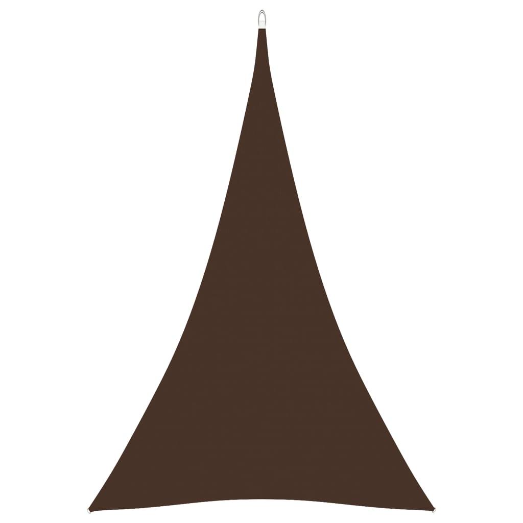 vidaXL Zonnescherm driehoekig 4x5x5 m oxford stof bruin