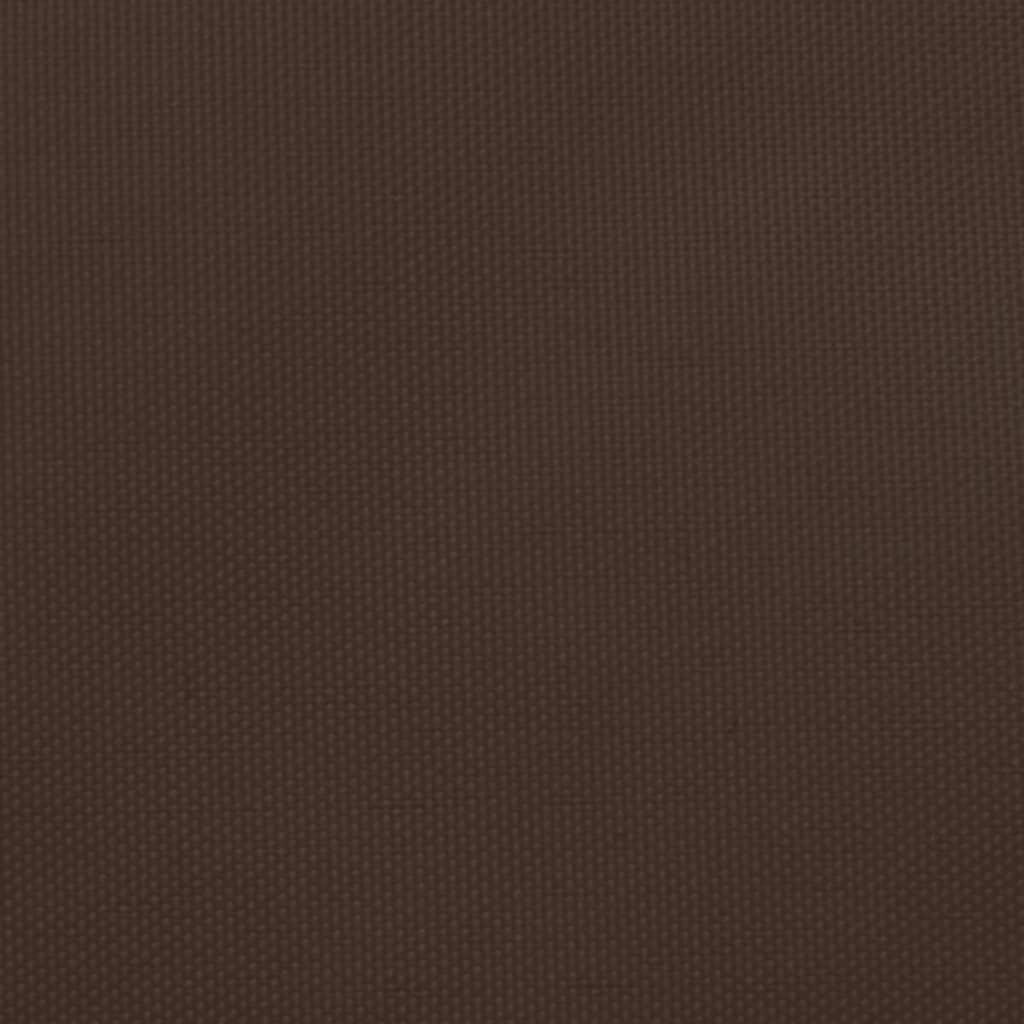 Zonnescherm driehoekig 5x5x6 m oxford stof bruin