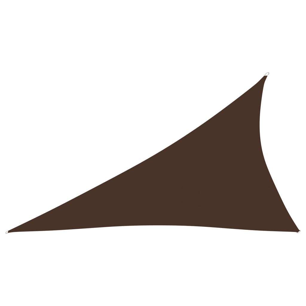 vidaXL Sonnensegel Oxford-Gewebe Dreieckig 4x5x6,4 m Braun