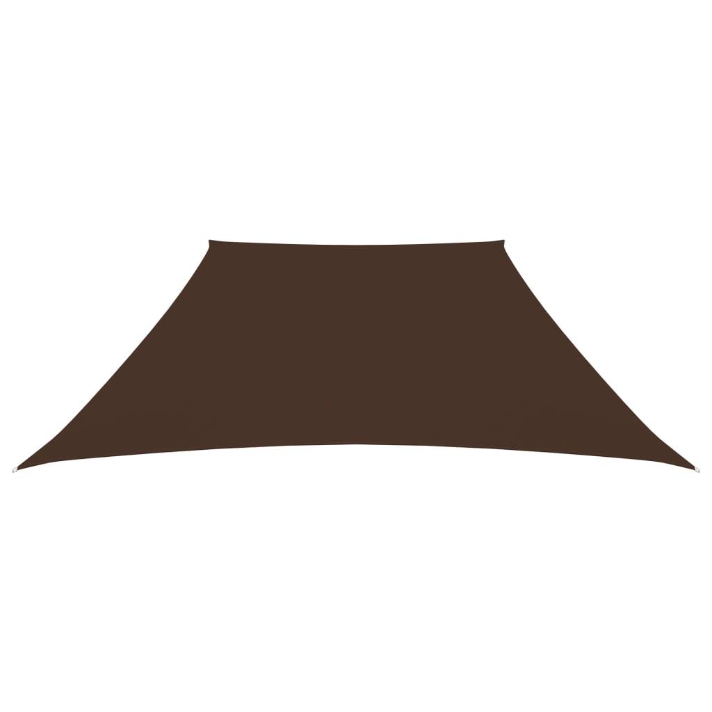 Zonnescherm trapezium 3/4x3 m oxford stof bruin