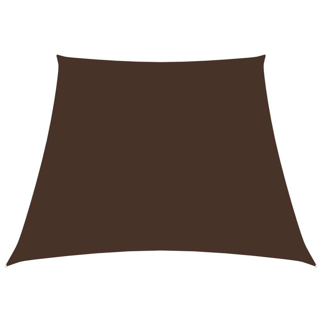 Zonnescherm trapezium 4/5x3 m oxford stof bruin